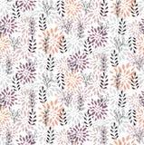 Флористическая абстрактная элегантная безшовная картина вектора Стоковое Изображение