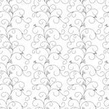 Флористическая безшовная картина, серые лозы на белой предпосылке стоковые изображения rf