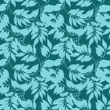 Флористическая безшовная картина с листьями Текстура для обоев иллюстрация штока