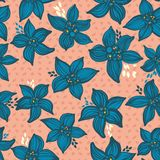 Флористическая безшовная картина Стоковая Фотография RF