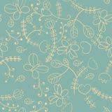 Флористическая безшовная текстура Стоковая Фотография