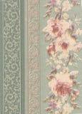 флористическая бумажная текстура печати Стоковые Изображения