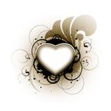 флористическая влюбленность сердца Бесплатная Иллюстрация