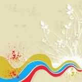 флористическая волна grunge Стоковые Фото