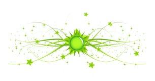 флористическая главная линия солнечная Стоковое Изображение RF