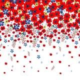 Флористическая граница с милыми небольшими ditsy цветками также вектор иллюстрации притяжки corel бесплатная иллюстрация