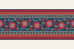 Флористическая граница blockprint Стоковое фото RF