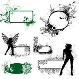 флористическая девушка рамки Иллюстрация вектора