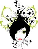 флористическая девушка иллюстрация вектора