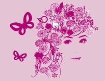 флористическая девушка Стоковое Изображение