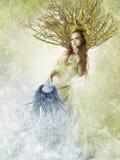 флористическая женщина весны Стоковые Фотографии RF