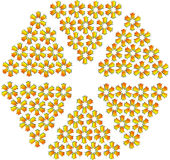 флористическая звезда иллюстрации шестиугольника Стоковые Фотографии RF