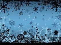 флористическая зима grunge иллюстрация штока