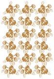 флористическая золотистая картина Стоковые Фотографии RF