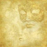 флористическая золотистая текстура маски grunge venetian Стоковое Фото