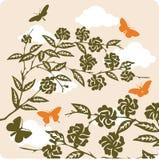 Флористическая иллюстрация предпосылки стоковое фото