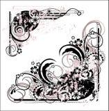 флористическая иллюстрация grunge Стоковое фото RF