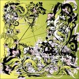 флористическая иллюстрация grunge Стоковые Изображения