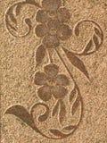 флористическая каменная поверхность Стоковая Фотография