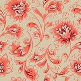 флористическая картина безшовная Предпосылка свирли цветка Орнаментальная парча easten картина Стоковые Изображения RF