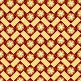 флористическая картина безшовная Регулярн текстура Желтый и коричневый цвет Стоковая Фотография