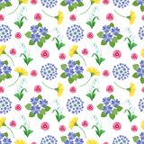 флористическая картина безшовная Текстура весны и печати цветков сада лета ботанической романтичной винтажная бесплатная иллюстрация