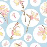 Флористическая картина вектора с кругом и лилией бесплатная иллюстрация