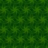 Флористическая картина зеленой линии Стоковое Изображение RF