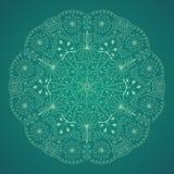 флористическая картина круглая Стоковое Изображение