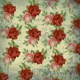 Флористическая картина на предпосылке grunge Стоковые Изображения RF
