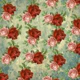 Флористическая картина на предпосылке grunge Стоковые Изображения
