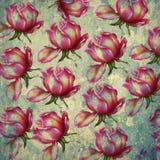 Флористическая картина на предпосылке grunge Стоковые Фотографии RF