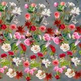 Флористическая картина на серой предпосылке Стоковое Изображение