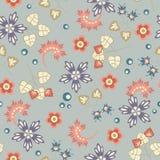 Флористическая картина на серой предпосылке Стоковое Фото