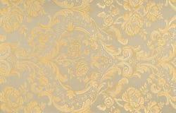 Флористическая картина на ткани Стоковое фото RF