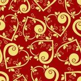 флористическая картина сердца безшовная Стоковые Изображения RF