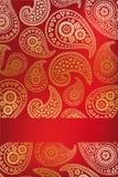 Флористическая конструкция карточки paisley Стоковое Изображение RF