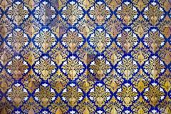 Флористическая конструкция крыла предпосылку черепицей стены Стоковые Фото