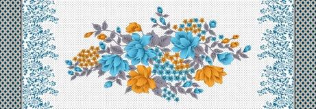 Флористическая красивая картина цветка с границей иллюстрация штока