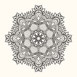 Флористическая мандала декоративный орнамент круглый Стоковые Изображения RF