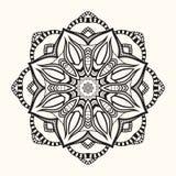 Флористическая мандала декоративный орнамент круглый Стоковые Фото