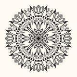 Флористическая мандала декоративный орнамент круглый Стоковое фото RF