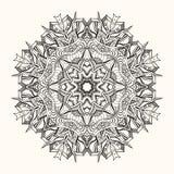 Флористическая мандала декоративный орнамент круглый Стоковое Фото