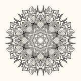 Флористическая мандала декоративный орнамент круглый Стоковое Изображение RF