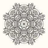 Флористическая мандала декоративный орнамент круглый Стоковая Фотография