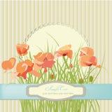 Флористическая открытка иллюстрация штока
