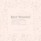 Флористическая поздравительная открытка наилучших пожеланий. иллюстрация вектора