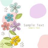Флористическая поздравительная открытка, открытка бесплатная иллюстрация