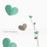 Флористическая поздравительная открытка Стоковые Изображения