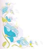 Флористическая предпосылка, голубой цветок иллюстрация вектора